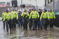 Pegida and counter demonstrators