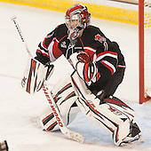 Chris Carrozzi (UNB - 1) - The Boston College Eagles defeated the visiting University of New Brunswick Varsity Reds 6-4 in an exhibition game on Saturday, October 4, 2014, at Kelley Rink in Conte Forum in Chestnut Hill, Massachusetts.