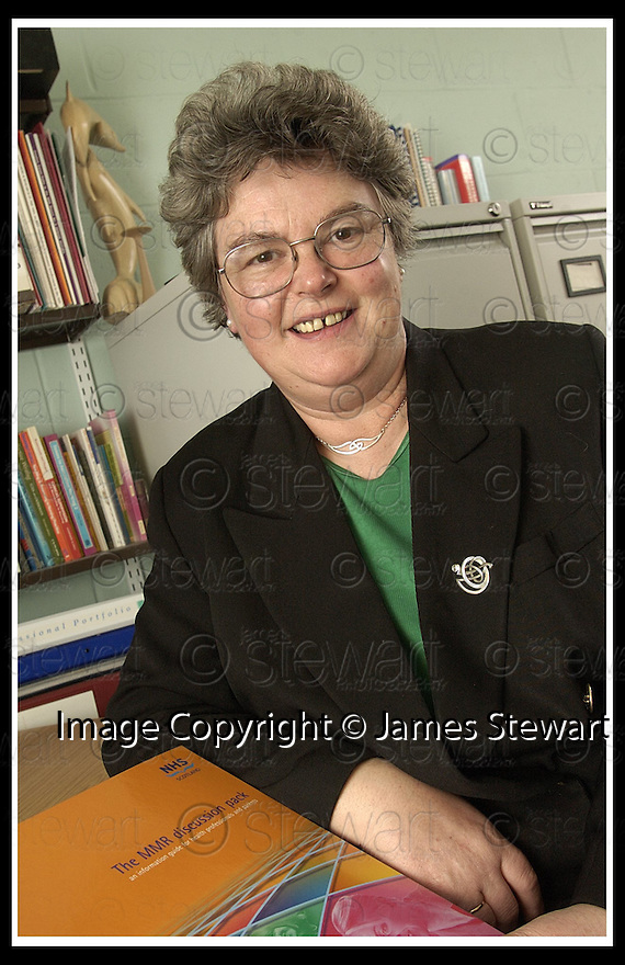 07/02/2002                 Collect Pic : James Stewart .Ref :     .File Name : stewart-midwife 01.PROFESSOR TRICIA MURPHY BLACK, PROFESSOR OF MIDWIFERY, WHO HAS STATED THAT PARENTS SHOULD BE GIVEN A CHOICE BETWEEN THE MMR AND SINGLE JABS.........(see copy from Tim Bugler).......James Stewart Photo Agency, Stewart House, Stewart Road, Falkirk. FK2 7AS      Vat Reg No. 607 6932 25.Office     : +44 (0)1324 630007     .Mobile  : + 44 (0)7721 416997.Fax         :  +44 (0)1324 630007.E-mail  :  jim@jspa.co.uk.If you require further information then contact Jim Stewart on any of the numbers above.........