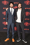 WESTWOOD, CA - OCTOBER 26: Co-creators/executive producers Ross Duffer and Matt Duffer arrive at the Premiere Of Netflix's 'Stranger Things' Season 2 at Regency Westwood Village Theatre on October 26, 2017 in Los Angeles, California.
