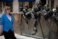 The Hockey Hall of Fame is pictured in Toronto April 20, 2010. The Hockey Hall of Fame (Temple de la renommee du hockey in French) holds exhibits about players, teams, National Hockey League (NHL) records, memorabilia and NHL trophies, including the Stanley Cup.