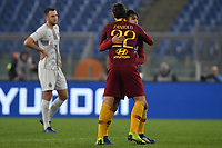 Cengiz Under of AS Roma celebrates with Nicolo Zaniolo after scoring goal of 1-1 during the Serie A 2018/2019 football match between AS Roma and FC Internazionale at stadio Olimpico, Roma, December, 2, 2018 <br />  Foto Andrea Staccioli / Insidefoto
