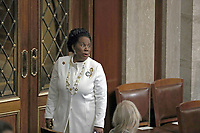 United States Representative Sheila Jackson-Lee (Democrat of Texas) in the US House Chamber prior to US President Donald J. Trump delivering his second annual State of the Union Address to a joint session of the US Congress in the US Capitol in Washington, DC on Tuesday, February 5, 2019. Photo Credit: Alex Edelman/CNP/AdMedia