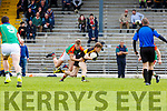 Donnacha Walsh Mid Kerry stops Gavin White Dr Crokes during their SFC clash in Fitzgerald Stadium on Sunday