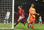 Zlatan Ibrahimovic of Manchester United celebrates scoring the equalising goal during the Premier League match at the Old Trafford Stadium, Manchester. Picture date: November 27th, 2016. Pic Simon Bellis/Sportimage