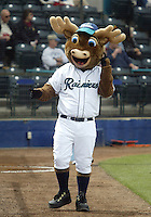 9 April 2005:   Tacoma Rainiers mascot entertained the crowd at Cheney Stadium in Tacoma, Washington.