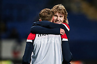Bolton Wanderers' Luca Connell greets team mate  Joe Pritchard  <br /> <br /> Photographer Andrew Kearns/CameraSport<br /> <br /> The EFL Sky Bet Championship - Bolton Wanderers v Reading - Tuesday 29th January 2019 - University of Bolton Stadium - Bolton<br /> <br /> World Copyright © 2019 CameraSport. All rights reserved. 43 Linden Ave. Countesthorpe. Leicester. England. LE8 5PG - Tel: +44 (0) 116 277 4147 - admin@camerasport.com - www.camerasport.com