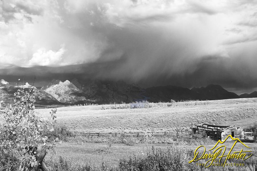 Grand Teton thunderstorm at the Shane Cabin in Grand Teton Park