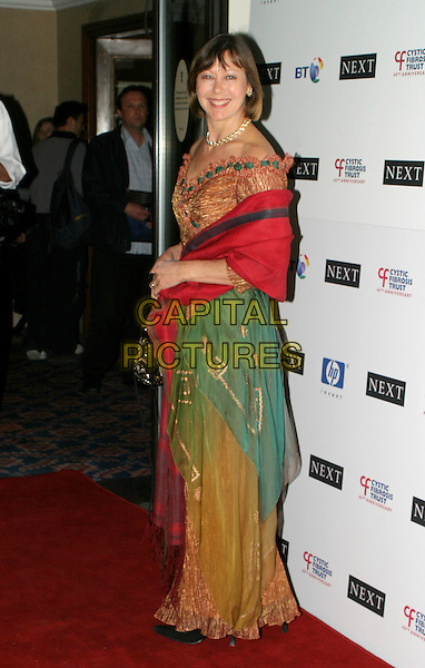 JENNY AGUTTER.Breathing Life Awards - Presented By The Cystic Fibrosis Trust. Royal Lancaster Hotel, London.April 29th, 2004.full length, full-length, sari, sarong, shawl, wrap.www.capitalpictures.com.sales@capitalpictures.com.© Capital Pictures.