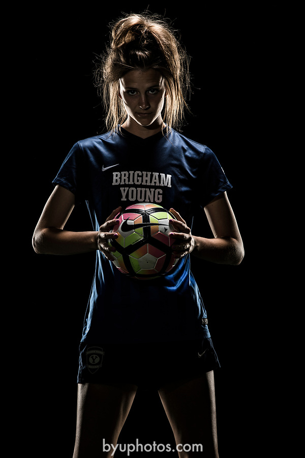 _RE_2223<br /> <br /> 17wSOC Poster Shoot on Black<br /> <br /> April 14, 2017<br /> <br /> Photography by Nate Edwards/BYU<br /> <br /> &copy; BYU PHOTO 2016<br /> All Rights Reserved<br /> photo@byu.edu  (801)422-7322