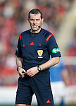 Aberdeen v St Johnstone...03.10.15   SPFL   Pittodrie, Aberdeen<br /> Referee Alan Muir<br /> Picture by Graeme Hart.<br /> Copyright Perthshire Picture Agency<br /> Tel: 01738 623350  Mobile: 07990 594431