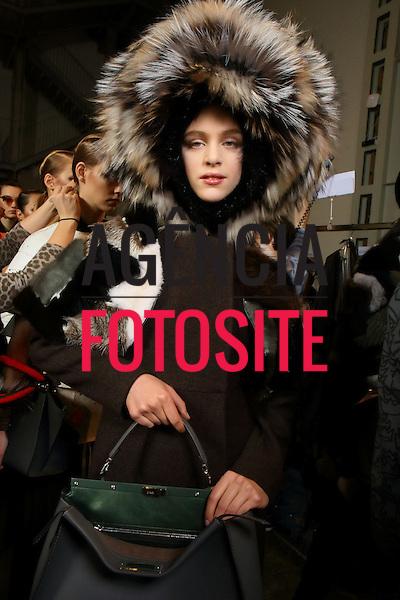 Milao, Italia &ndash; 02/2014 - Desfile de Fendi durante a Semana de moda de Milao - Inverno 2014. <br /> Foto: FOTOSITE