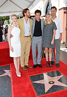 Judy Garner, Jason Butler Harner, Jason Bateman, Sofia Hublitz, Chris Mundy at the Hollywood Walk of Fame Star Ceremony honoring actor Jason Bateman. Los Angeles, USA 26 July 2017<br /> Picture: Paul Smith/Featureflash/SilverHub 0208 004 5359 sales@silverhubmedia.com
