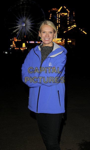 ANNEKA RICE.The Winter Wonderland launch party, Hyde Park, London, England..Novmber 20th, 2008.half length blue jacket arms crossed fleece.CAP/CAN.©Can Nguyen/Capital Pictures.