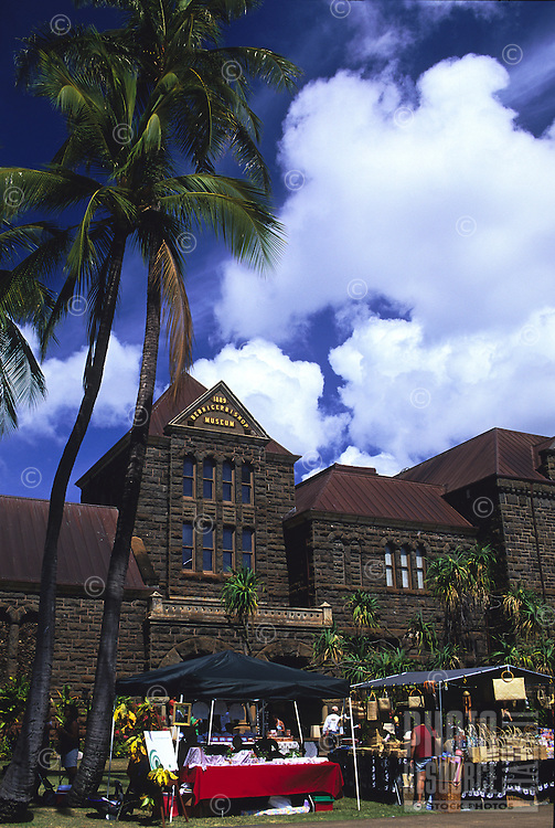 Crafts fronting the Bishop Museum at a celebration on the lawn, Honolulu