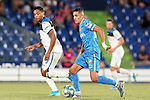 Getafe CF's Faycal Fajr (r) and Atalanta BC's Luis Muriel during friendly match. August 10,2019. (ALTERPHOTOS/Acero)