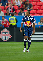 August 21 2010 New York Red Bulls forward Thierry Henry #14 in action during a game between the New York Red Bulls and Toronto FC at BMO Field in Toronto..The New York Red Bulls won 4-1