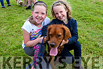 Ríona and Saoirse Bacaéir with Holly (from Gallarus) enjoying the West Kerry Agricultural Show at the Dingle Mart on Sunday.