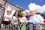 Rose of Tralee Nicola Furlong with Kamil Pijet, Jane Smith, Lauren Scannell ad Olivia Nix with their book 100 things to do and chew during the launch of the Butterfly Garden in Balloonagh primary school on Friday afternoon.