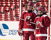 Ryan Little (BC - 20), Haley McLean (BC - 13) - The Boston College Eagles practiced at Fenway on Monday, January 9, 2017, in Boston, Massachusetts.Ryan Little (BC - 20), Haley McLean (BC - 13) - The Boston College Eagles practiced at Fenway on Monday, January 9, 2017, in Boston, Massachusetts.