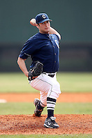February 22, 2009:  Pitcher Greg Nappo (41) of the University of Connecticut during the Big East-Big Ten Challenge at Naimoli Complex in St. Petersburg, FL.  Photo by:  Mike Janes/Four Seam Images