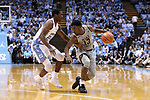 CHAPEL HILL, NC - DECEMBER 30: Wake Forest's Bryant Crawford (13) and North Carolina's Kenny Williams (24). The University of North Carolina Tar Heels hosted the Wake Forest University Demon Deacons on December 30, 2017 at Dean E. Smith Center in Chapel Hill, NC in a Division I men's college basketball game. UNC won the game 73-69.