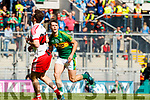 Michael O'Leary Kerry in action against  Derry in the All-Ireland Minor Footballl Final in Croke Park on Sunday.