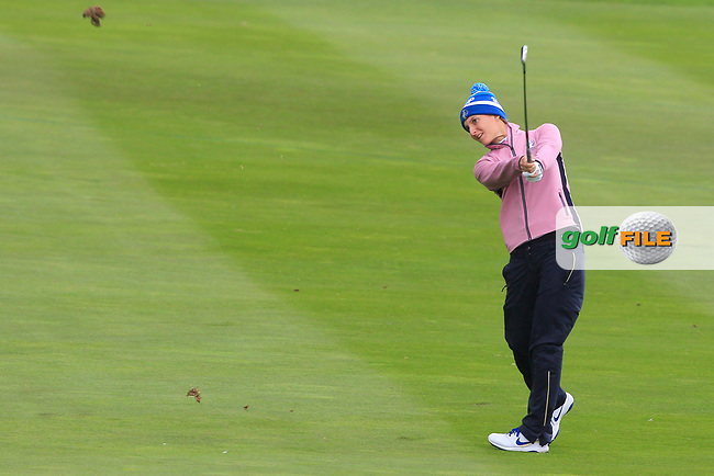 Anne Van Dam of Team Europe on the 16th during Day 2 Fourball at the Solheim Cup 2019, Gleneagles Golf CLub, Auchterarder, Perthshire, Scotland. 14/09/2019.<br /> Picture Thos Caffrey / Golffile.ie<br /> <br /> All photo usage must carry mandatory copyright credit (© Golffile | Thos Caffrey)