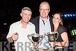 Chairman of Austin Stacks GAA Club Connolly Park,.Tralee with the winners of Austin Stacks GAA Club,Strictly Come Dancing in the Festival Dom,e Tralee on Saturday night, l-r: Pat Reidy,Liam Lynch and Jacinta Hobbert