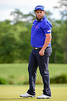 Andrew Johnston (GBR) after sinking his putt on 2 during round 1 of the Shell Houston Open, Golf Club of Houston, Houston, Texas, USA. 3/30/2017.<br /> Picture: Golffile | Ken Murray<br /> <br /> <br /> All photo usage must carry mandatory copyright credit (&copy; Golffile | Ken Murray)