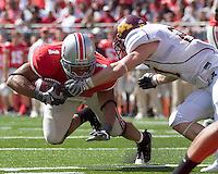 September 27, 2008: Ohio State running back Dan Herron (1). The Ohio State Buckeyes defeated the Minnesota Gophers 34-21 on September 27, 2008 at Ohio Stadium, Columbus, Ohio.