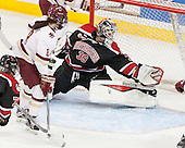 Dana Trivigno (BC - 8), Brittany Bugalski (NU - 39) - The Boston College Eagles defeated the Northeastern University Huskies 5-1 (EN) in their NCAA Quarterfinal on Saturday, March 12, 2016, at Kelley Rink in Conte Forum in Boston, Massachusetts.