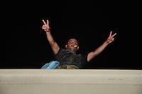 Coatzacoalcos Veracruz 22/Noviembre/2014.<br /> Durante una peque&ntilde;a instancia de las Madres y familiares en el Puente de la Avenida 1, donde regularmente los migrantes suelen esperar al Tren mejor conocido como &ldquo;La Bestia&rdquo;, migrantes centroamericanos que ya hac&iacute;an a la espera de este transporte desde hace d&iacute;as, abordaron La Bestia en dicho lugar para emprender su viaje al &ldquo;Sue&ntilde;o Americano&rdquo;. <br /> Todos los derechos reservados.