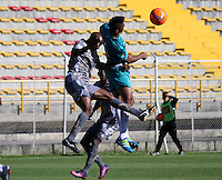 BOGOTA -COLOMBIA, 8-02-2017.Action game between  Tigres FC  and Cortuluá  during match for the date 2 of the Aguila League I 2017 played at Metropolitano de Techo stadium . Photo:VizzorImage / Felipe Caicedo  / Staff