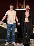 """Paul Dano and Ethan Hawke during the Broadway Opening Night Curtain Call for the Roundabout Theatre Production of """"True West"""" at the American Airlines Theatre on January 24, 2019 in New York City."""