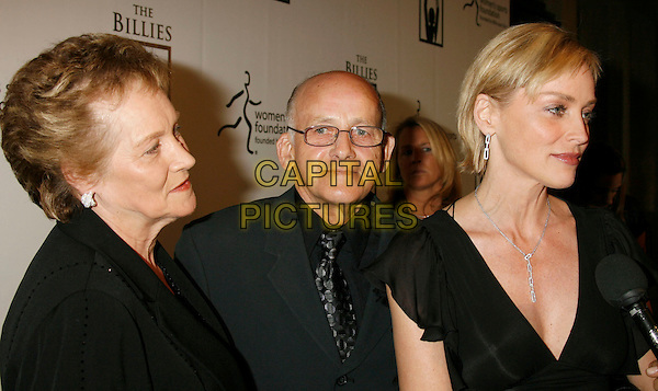 "DOROTHY STONE, JOSEPH STONE & SHARON STONE.Women's Sports Foundation Presents ""The Billies"" Gala held at the Beverly Hilton, Beverly Hills, California, USA..April 11th, 2007 .headshot portrait glasses father daughter family dad mother mum mom.CAP/ADM/RE.©Russ Elliot/AdMedia/Capital Pictures"