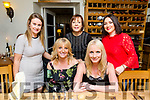 Michelle Greaney, Tralee celebrates his 40th Birthday with friends at Bella Bia's on Saturday Pictured Anna Blennerhassett, Michelle Greaney Back l-r Anne Kelliher, Kerrie O'Connor and Claire O;Connor