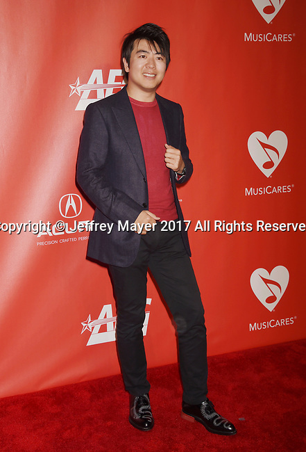 LOS ANGELES, CA - FEBRUARY 10: Concert pianist Lang Lang attends MusiCares Person of the Year honoring Tom Petty at the Los Angeles Convention Center on February 10, 2017 in Los Angeles, California.