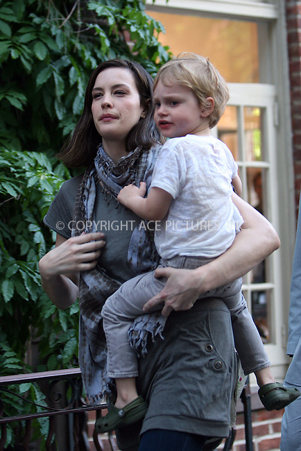 WWW.ACEPIXS.COM . . . . .  ....May 25 2008, New York City....Actress Liv Tyler takes her son Milo for a walk around their West Village neighborhood. Tyler recently announced that she has seperated from her husband, British rocker Royston Langdon.....Please byline: NANCY RIVERA- ACE PICTURES.... *** ***..Ace Pictures, Inc:  ..tel: (646) 769 0430..e-mail: info@acepixs.com..web: http://www.acepixs.com