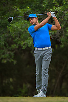 Julian Suri (USA) watches his tee shot on 14 during Round 3 of the Valero Texas Open, AT&T Oaks Course, TPC San Antonio, San Antonio, Texas, USA. 4/21/2018.<br /> Picture: Golffile | Ken Murray<br /> <br /> <br /> All photo usage must carry mandatory copyright credit (© Golffile | Ken Murray)