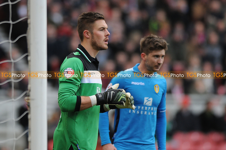Jack Butland of Leeds United  - Middlesbrough vs Leeds United - Sky Bet Championship Football at the Riverside Stadium, Middlesbrough - 22/02/14 - MANDATORY CREDIT: Steven White/TGSPHOTO - Self billing applies where appropriate - 0845 094 6026 - contact@tgsphoto.co.uk - NO UNPAID USE