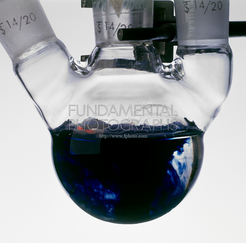SODIUM DISSOLVES IN LIQUID AMMONIA<br /> A Piece Of Na(s) Is Added To NH3(l)<br /> The exothermic reaction is slow at cold temperatures &amp; the Sodium dissolves to form a deep blue solution of metal cations and dissolved electrons.  2Na(s) + 2NH3(l) -&gt; 2Na+(soln) + 2NH2-(soln) + H2(g).