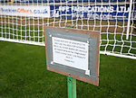 And you expect the players to read this small notice in the goalmouth?