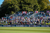 Barmy Army celebrates a wicket during the final day of the Second International Cricket Test match, New Zealand V England, Hagley Oval, Christchurch, New Zealand, 3rd April 2018.Copyright photo: John Davidson / www.photosport.nz