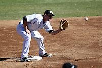 Phoenix Solar Sox second baseman Corban Joseph #18 during an Arizona Fall League game against the Mesa Solar Sox at Phoenix Municipal Stadium on October 31, 2011 in Phoenix, Arizona.  Mesa defeated Phoenix 3-1.  (Mike Janes/Four Seam Images)