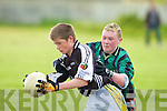 Mikie O'Connor Causeway tackles Tadgh o liongsigh Gaelcholaiste in the Russell Shield Final at Caherslee on Thursday.