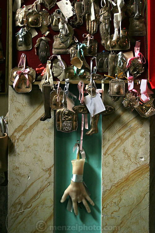 Church reliquary in Italy. (Supporting image from the project Hungry Planet: What the World Eats.)