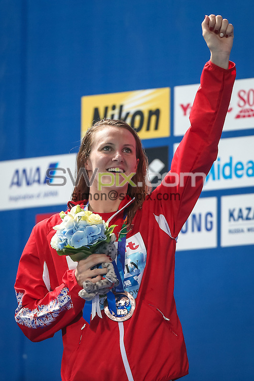 Picture by Alex Whitehead/SWpix.com - 08/08/2015 - Swimming - 16th FINA World Swimming Championships 2015 - Kazan Arena Stadium, Kazan, Russia - Great Britain's Jazz Carlin wins Bronze in the Women's 800m Freestyle final.