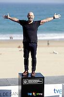 "Actor Javier Camara posses in the photocall of the ""Vivir es facil con los ojos cerrados"" film presentation during the 61 San Sebastian Film Festival, in San Sebastian, Spain. September 24, 2013. (ALTERPHOTOS/Victor Blanco) /NortePhoto /Nortephoto"