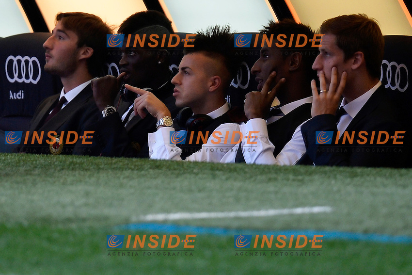 Stephan El Shaarawi (C) Milan <br /> Milano 01-09-2013 Stadio Giuseppe Meazza San Siro <br /> Football Calcio Campionato Italiano Serie A<br /> Milan - Cagliari <br /> Foto Andrea Staccioli Insidefoto